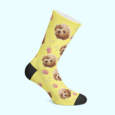 Customizable - Popcorn Pet Socks (4555792547897)