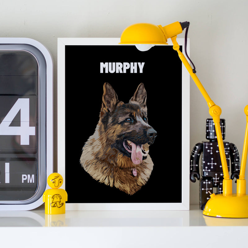 Customizable Pet Print - Portrait