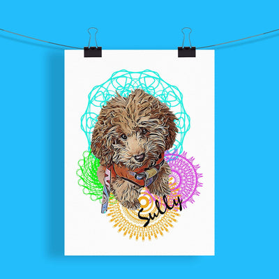 Customizable Pet Print - Mandala