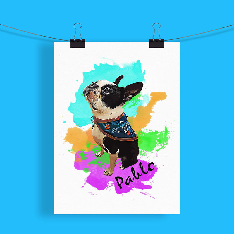 Customizable Pet Print - Watercolors