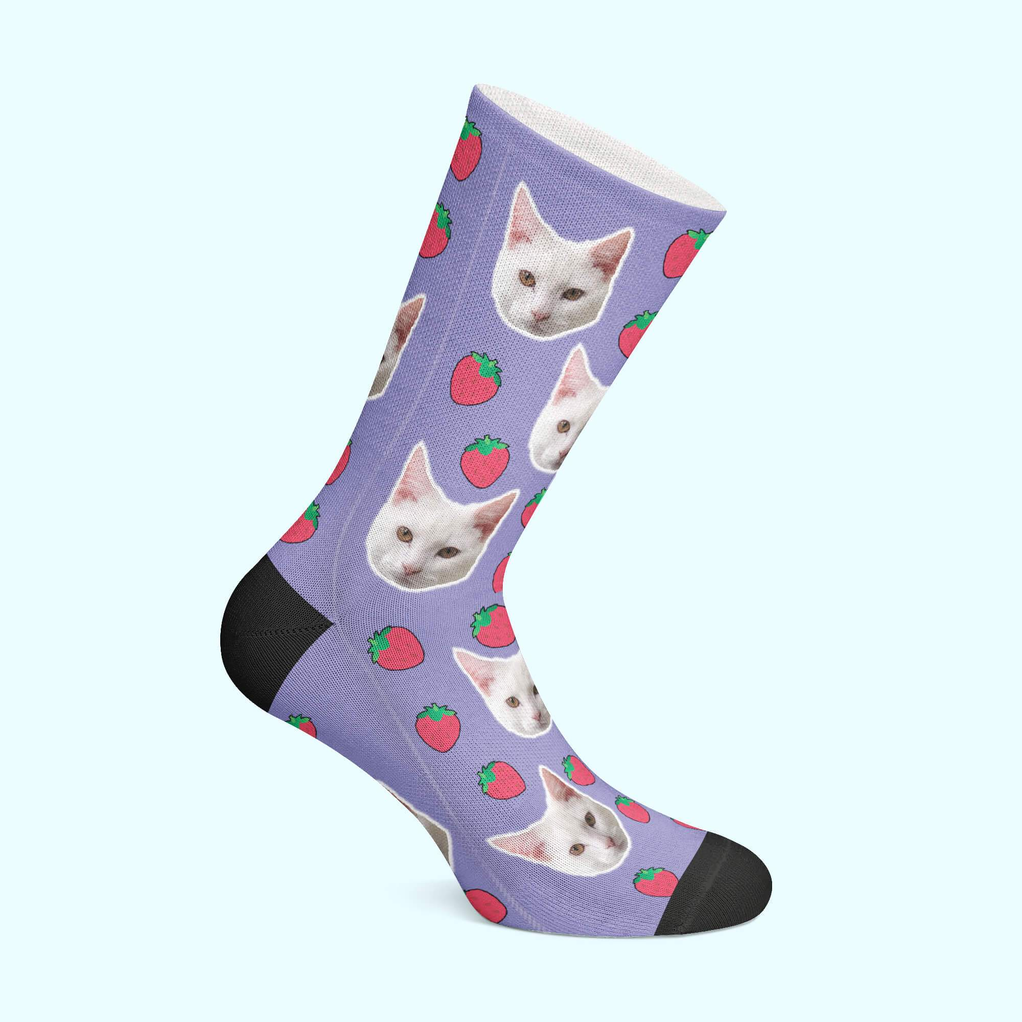 Customizable - Strawberry Pet Socks