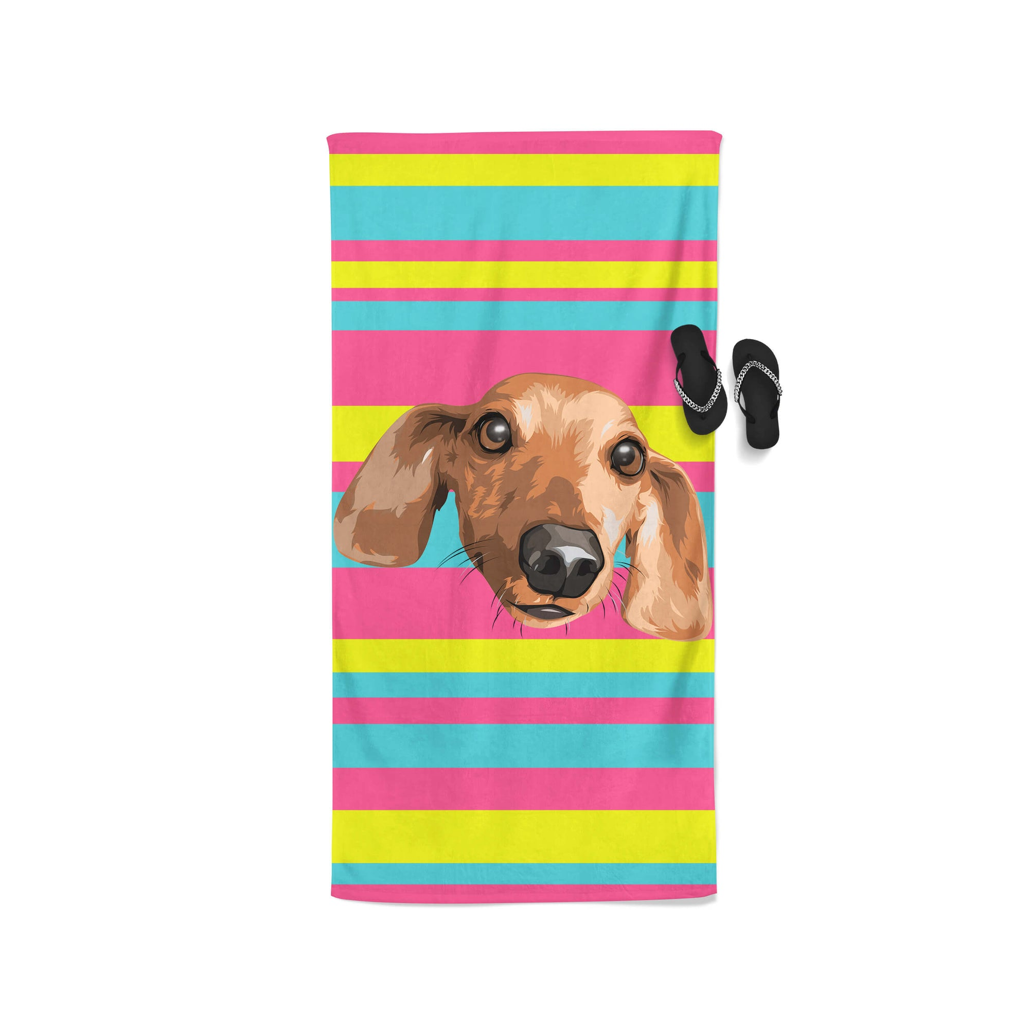 Personalised Patterned Beach Towel (2437953421369)