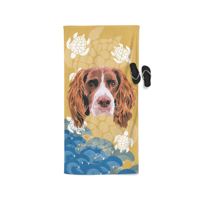 Personalised Patterned Beach Towel