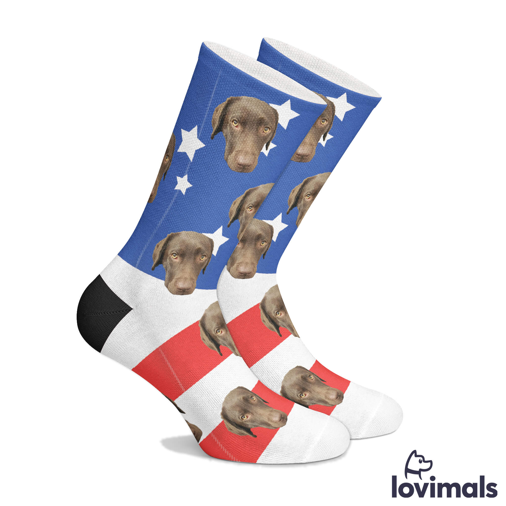 Customizable USA Pet Socks