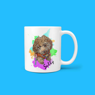 Personalized Pet Mug - Watercolor (4661102084153)