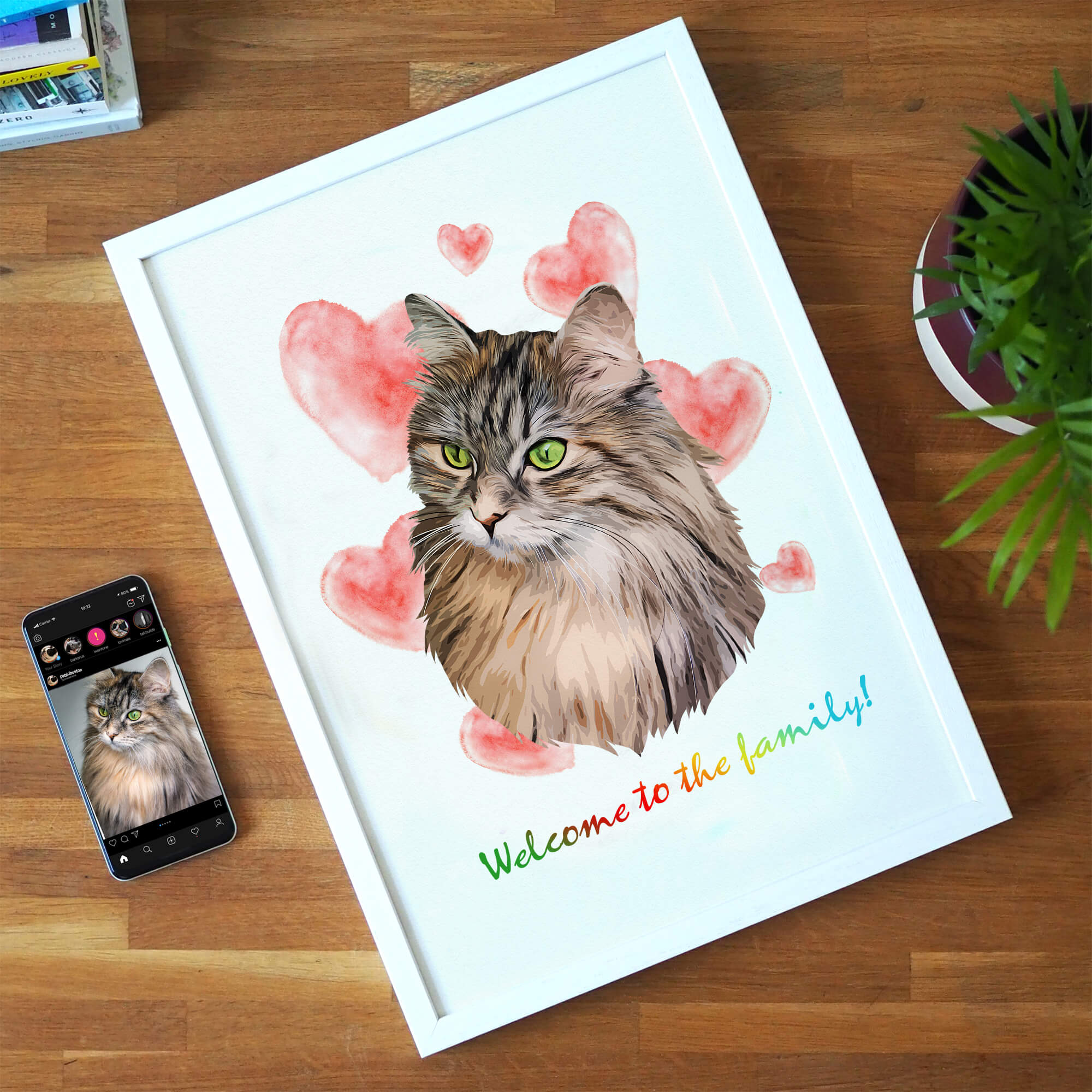 Customizable Pet Print - Welcome To The Family