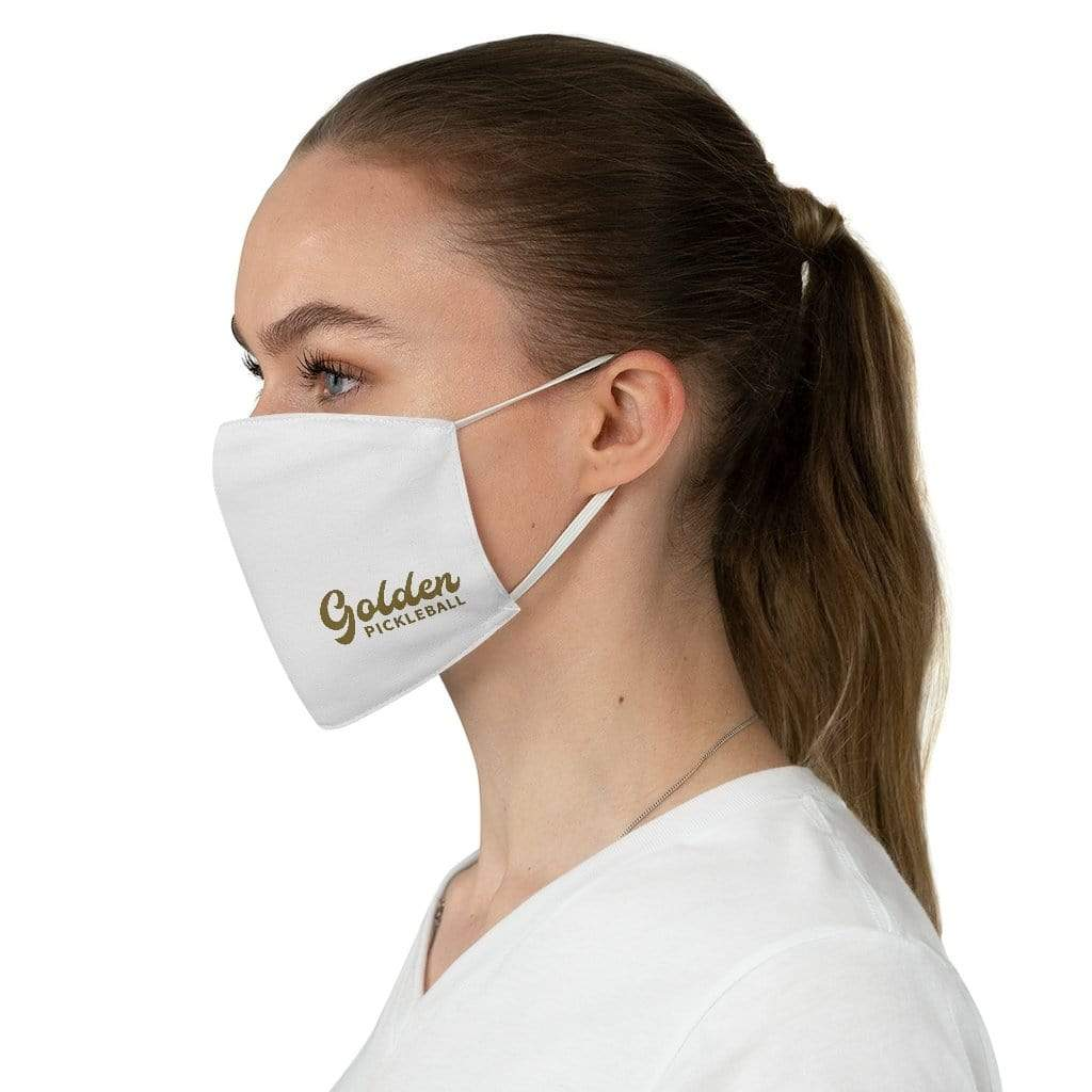 Golden Face Mask - Golden Pickleball Paddles