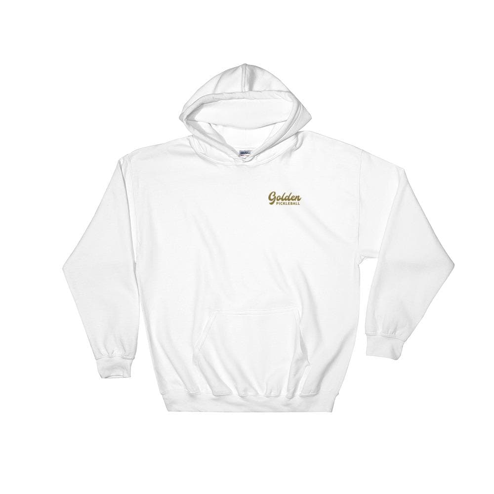 Golden Logo Hooded Sweatshirt - Golden Pickleball Paddles