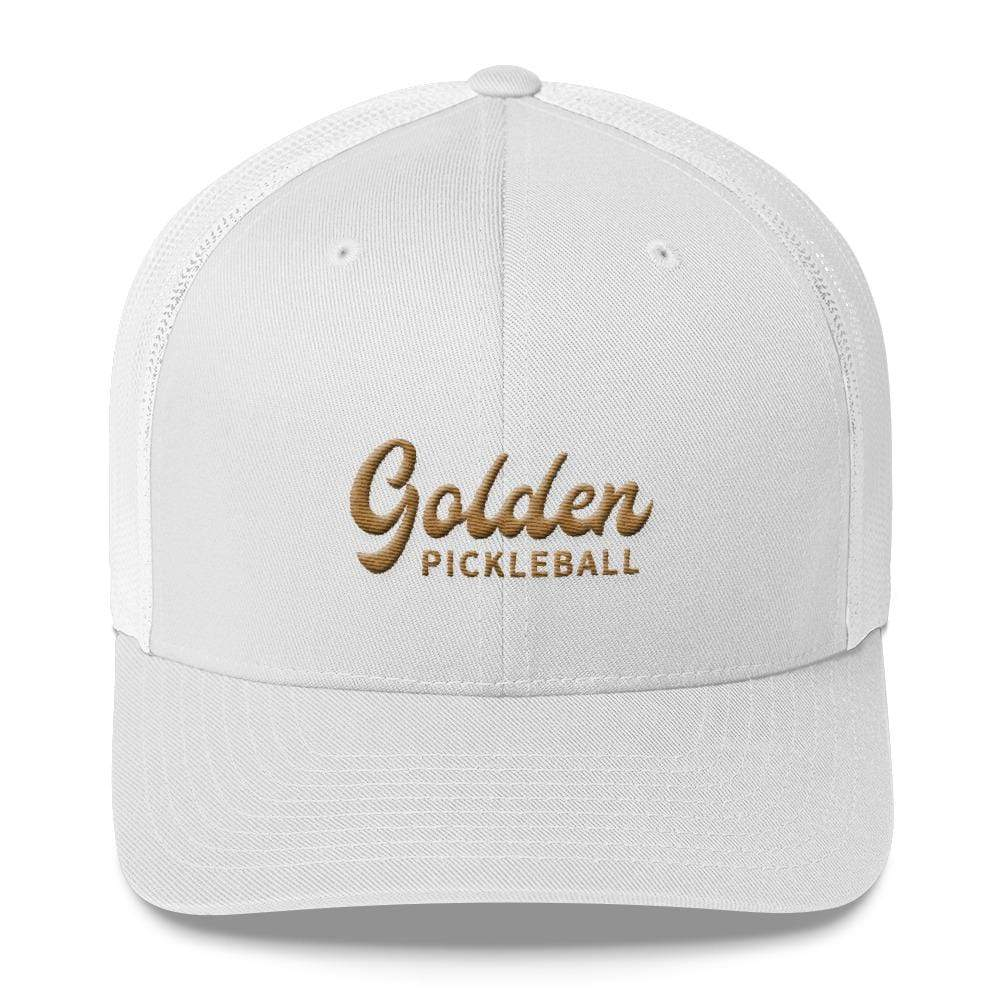 Golden Logo Trucker Cap - Golden Pickleball Paddles