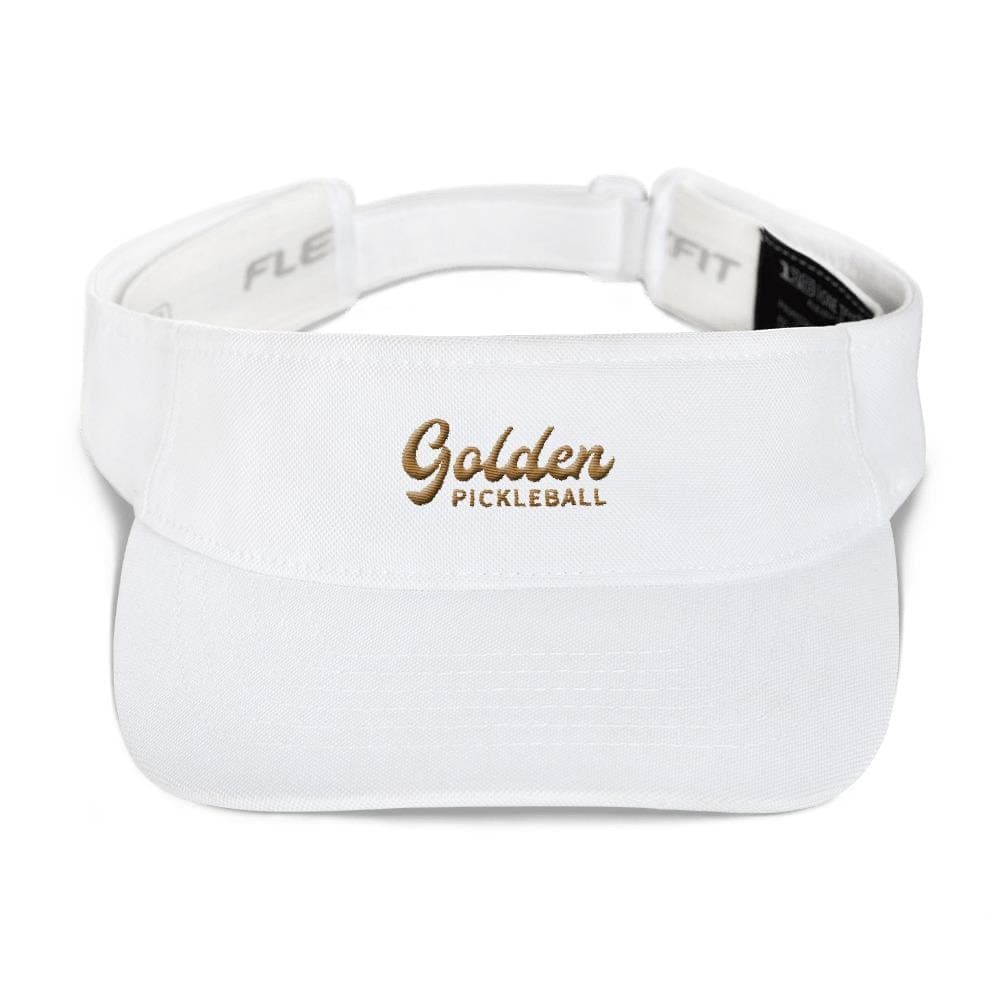 Golden Logo Visor - Golden Pickleball Paddles