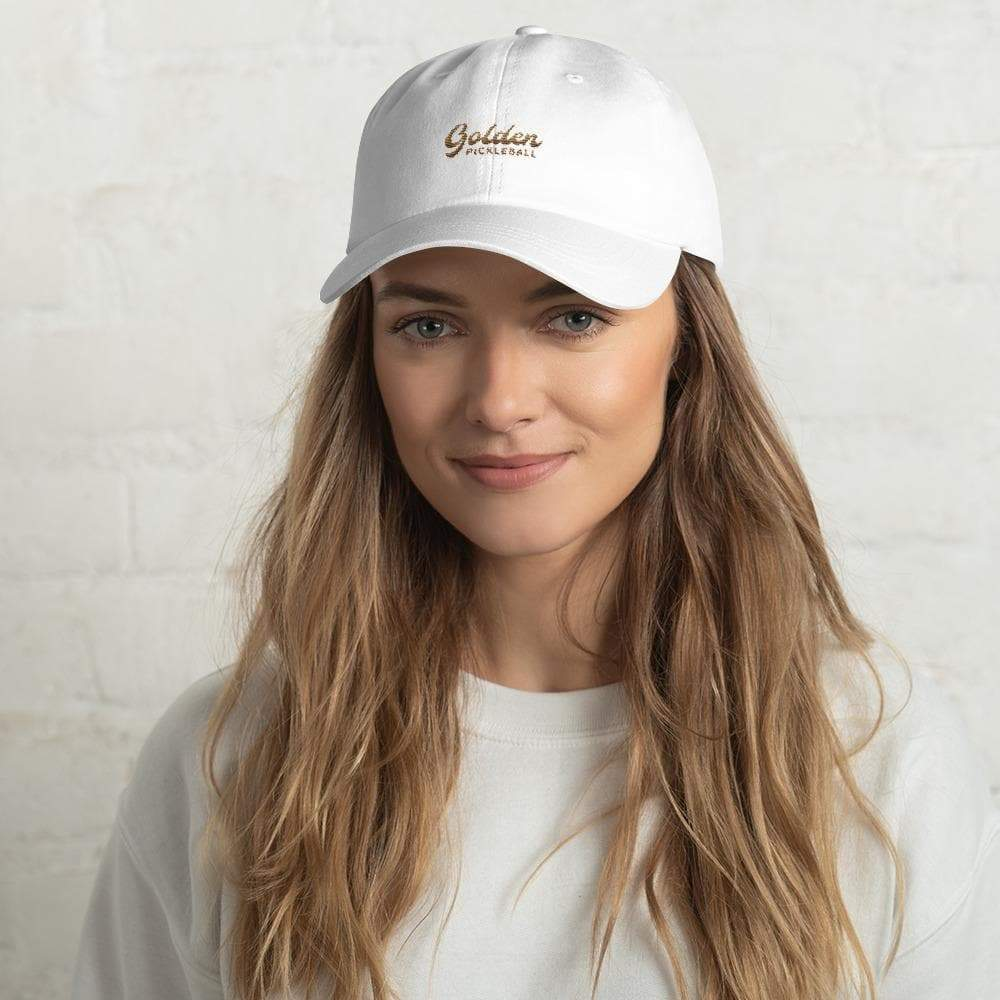 Golden Logo Dad Hat - Golden Pickleball Paddles