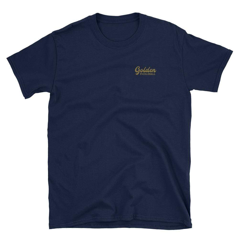 Golden Logo Short-Sleeve Unisex T-Shirt - Golden Pickleball Paddles