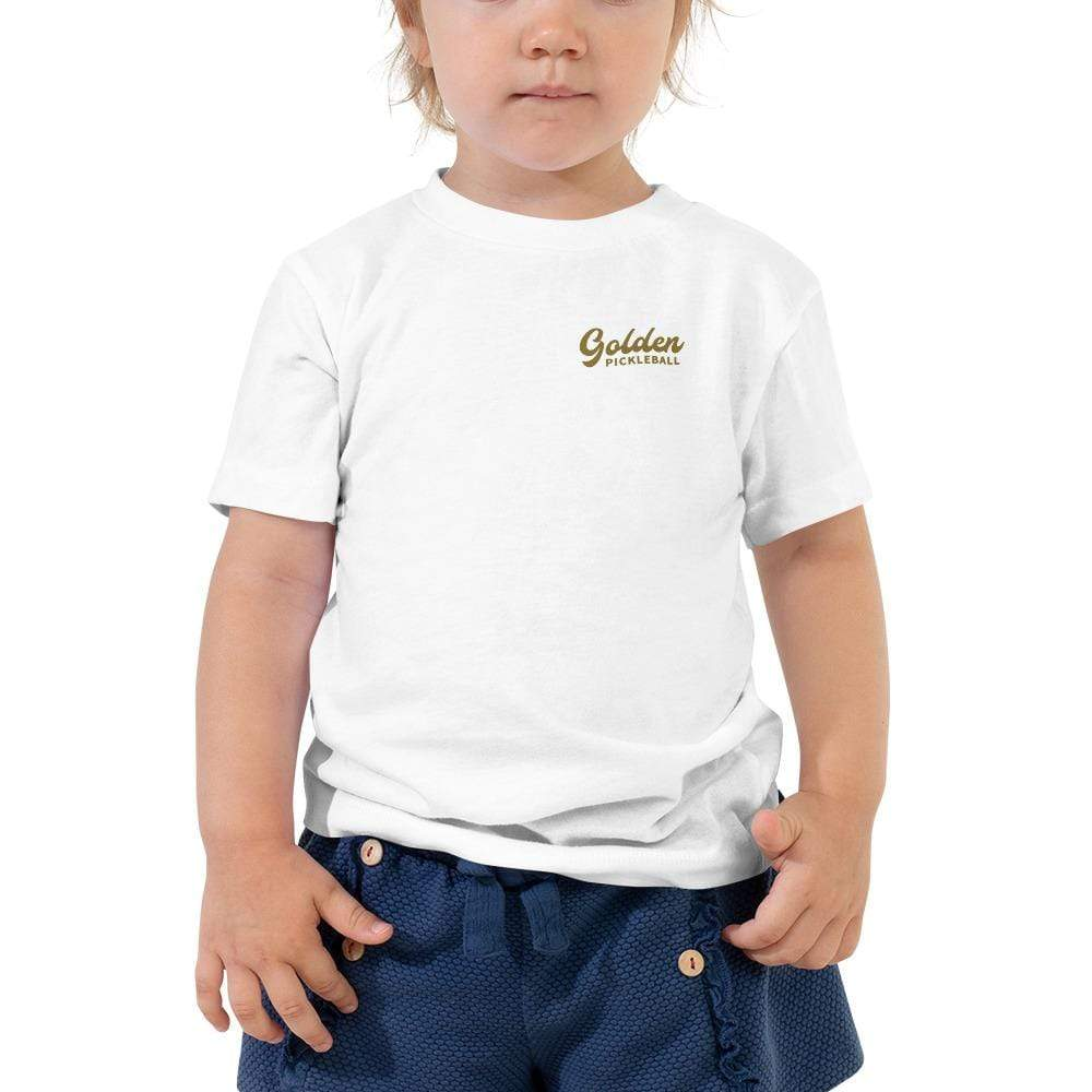 Golden Logo Toddler Short Sleeve Tee - Golden Pickleball Paddles