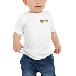 Golden Logo Baby Jersey Short Sleeve Tee - Golden Pickleball Paddles