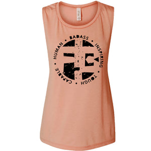 Flowy Muscle Tank Acronym Circle