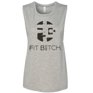 Flowy Muscle Tank Fit Bitch Classic Logo