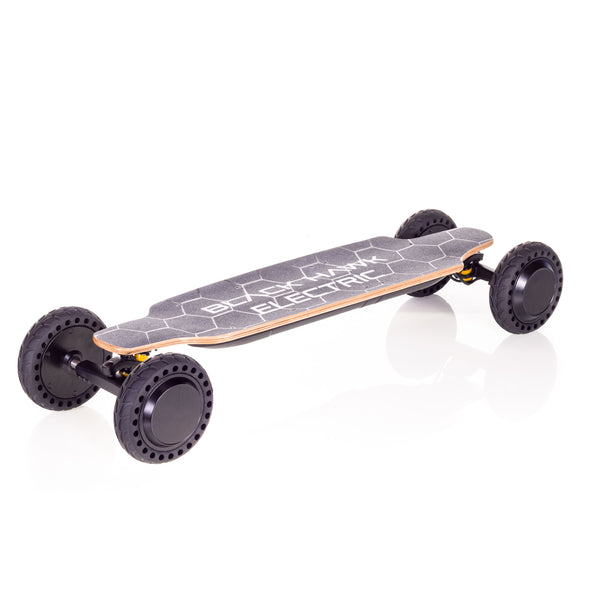 High quality, high performance electric skateboard with hub drive brushless motors and lithium ion battery technology.