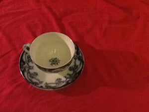 Royal Staffordshire Blue IRIS Oversized Cup & Saucer Set