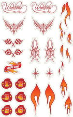 Wishbone Bike Sticker Pack - Flames