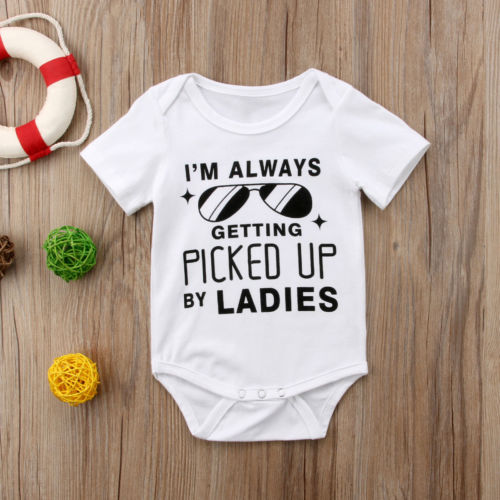Always Getting Picked Up Baby Onesie -  Hipster Kids Style. Youth Clothing and apparel Outfitters for hipster kids, toddlers, and babies.