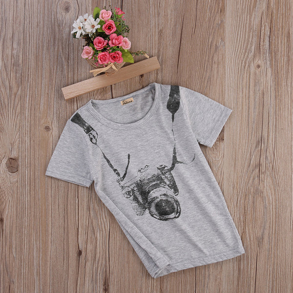 World Tourist Camera T-Shirt -  Hipster Kids Style. Youth Clothing and apparel Outfitters for hipster kids, toddlers, and babies.