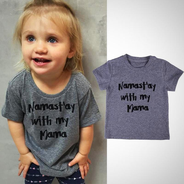 b2eea2dfbe71 Namast'ay With My Mama T-Shirt - Hipster Kids Style. Youth Clothing ...