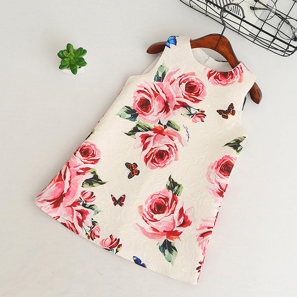 Butterfly Flower Sleeveless Spring Dress -  Hipster Kids Style. Youth Clothing and apparel Outfitters for hipster kids, toddlers, and babies.