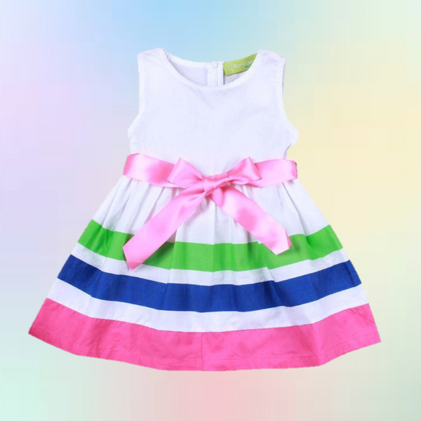 Bow Knot Mini Dress -  Hipster Kids Style. Youth Clothing and apparel Outfitters for hipster kids, toddlers, and babies.