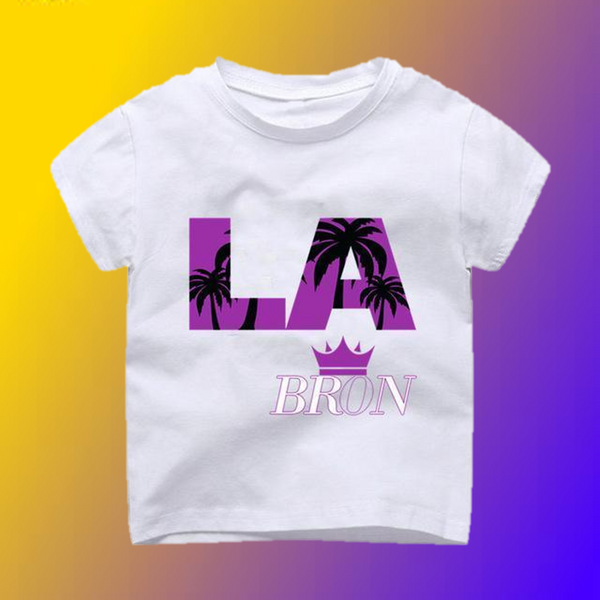 LaBron The Palm Trees Lebron to LA T-Shirt -  Hipster Kids Style. Youth Clothing and apparel Outfitters for hipster kids, toddlers, and babies.