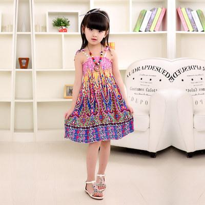 Pink Design Summer Bohemian Style Dress -  Hipster Kids Style. Youth Clothing and apparel Outfitters for hipster kids, toddlers, and babies.
