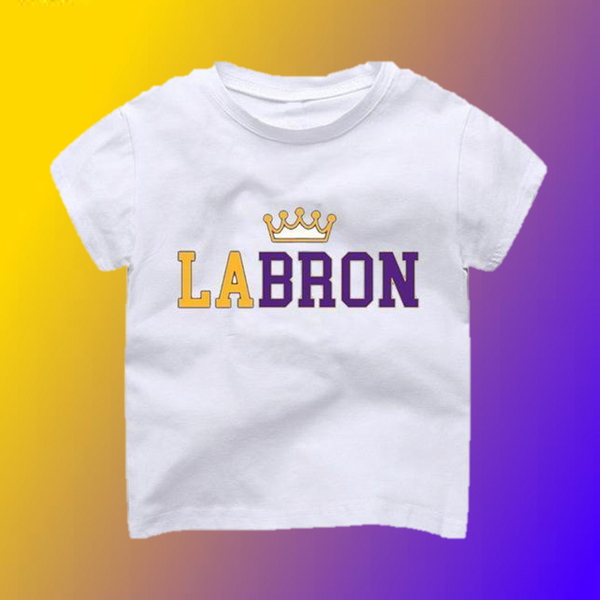 LA-Bron the King LeBron T-Shirt -  Hipster Kids Style. Youth Clothing and apparel Outfitters for hipster kids, toddlers, and babies.