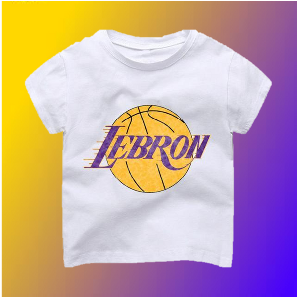 Lebron Lakers Logo T-Shirt -  Hipster Kids Style. Youth Clothing and apparel Outfitters for hipster kids, toddlers, and babies.