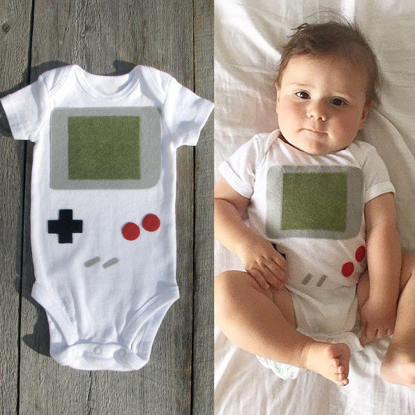 Gameboy Baby Onesie -  Hipster Kids Style. Youth Clothing and apparel Outfitters for hipster kids, toddlers, and babies.