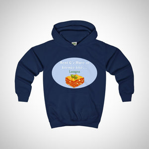 Real G's Move In Silence Like Lasagna Youth Hoodie -  Hipster Kids Style. Youth Clothing and apparel Outfitters for hipster kids, toddlers, and babies.