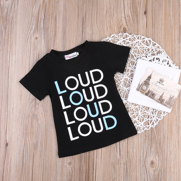 Loud Cotton T Shirt -  Hipster Kids Style. Youth Clothing and apparel Outfitters for hipster kids, toddlers, and babies.