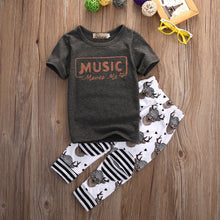 Music Moves Me 2pc Outfit -  Hipster Kids Style. Youth Clothing and apparel Outfitters for hipster kids, toddlers, and babies.