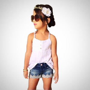 Tank Top T-shirt Dress+Jeans 2pc Outfit -  Hipster Kids Style. Youth Clothing and apparel Outfitters for hipster kids, toddlers, and babies.