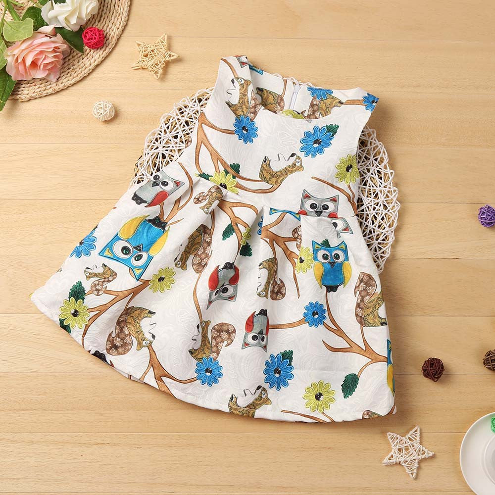 Owl Summer Dress -  Hipster Kids Style. Youth Clothing and apparel Outfitters for hipster kids, toddlers, and babies.