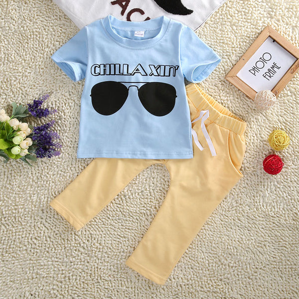 Chillaxin Summer 2pc Outfit -  Hipster Kids Style. Youth Clothing and apparel Outfitters for hipster kids, toddlers, and babies.