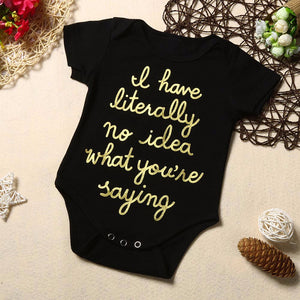 No Idea What You're Saying Baby Onesie -  Hipster Kids Style. Youth Clothing and apparel Outfitters for hipster kids, toddlers, and babies.