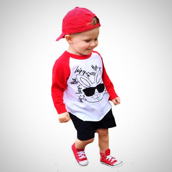 Hip-Hop Rabbit Long Sleeve T Shirt -  Hipster Kids Style. Youth Clothing and apparel Outfitters for hipster kids, toddlers, and babies.