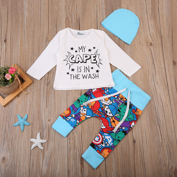 97ad66550355 My Cape is in the Wash 3pc Outfit - Hipster Kids Style. Youth Clothing and  ...