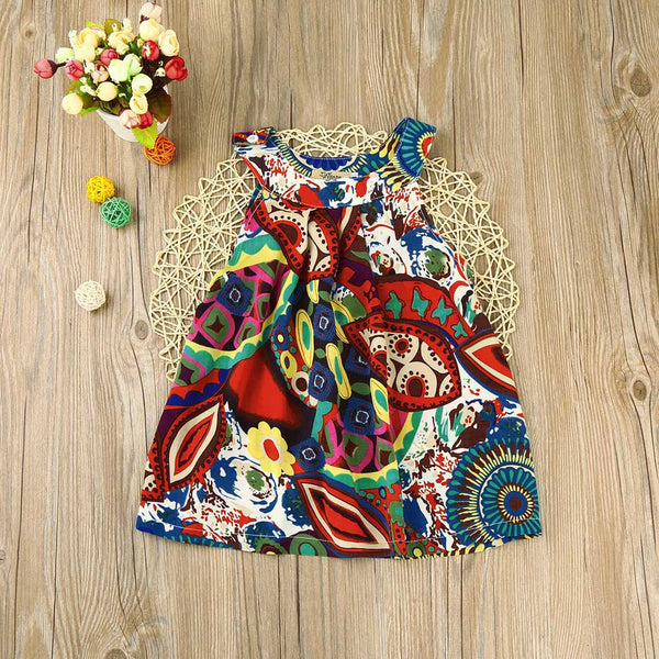 Girls Bohemian Flower Sundress -  Hipster Kids Style. Youth Clothing and apparel Outfitters for hipster kids, toddlers, and babies.