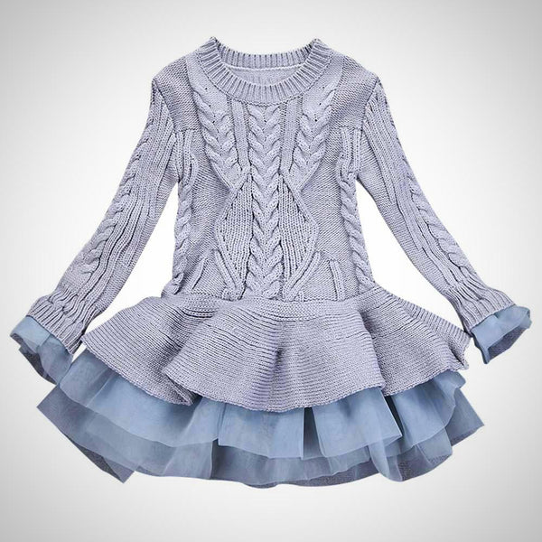 Girls Knitted Sweater Dress -  Hipster Kids Style. Youth Clothing and apparel Outfitters for hipster kids, toddlers, and babies.