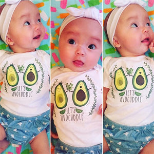 Let's Avo-Cuddle Baby Onesie -  Hipster Kids Style. Youth Clothing and apparel Outfitters for hipster kids, toddlers, and babies.