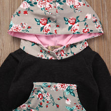Florals Tops Hoodies + Long Pants 2pc Outfit -  Hipster Kids Style. Youth Clothing and apparel Outfitters for hipster kids, toddlers, and babies.
