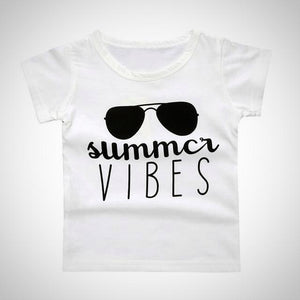 Summer Vibes T-Shirt -  Hipster Kids Style. Youth Clothing and apparel Outfitters for hipster kids, toddlers, and babies.