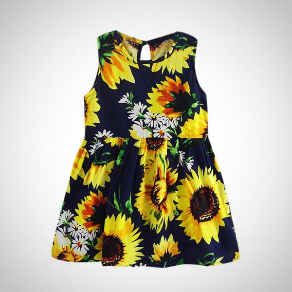 Girls Sunflower Dress -  Hipster Kids Style. Youth Clothing and apparel Outfitters for hipster kids, toddlers, and babies.