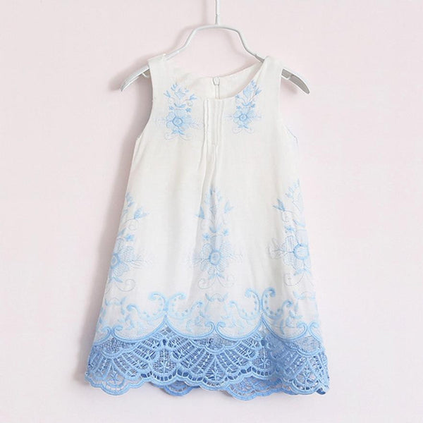 Sleeveless Princess Embroidery Dresses -  Hipster Kids Style. Youth Clothing and apparel Outfitters for hipster kids, toddlers, and babies.