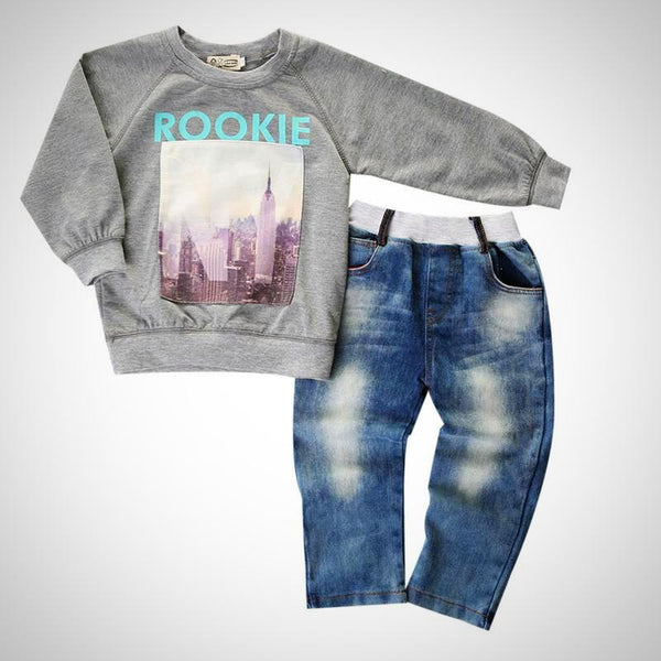New York Rookie 2pc Outfit -  Hipster Kids Style. Youth Clothing and apparel Outfitters for hipster kids, toddlers, and babies.
